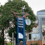 昭島駅北口ロータリーの時計